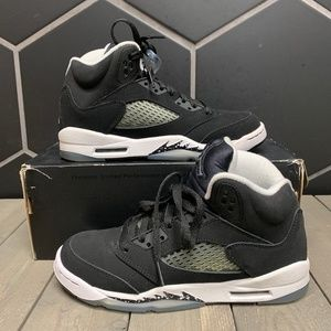 Youth Air Jordan 5 Oreo Black White GS Shoe 4.5Y